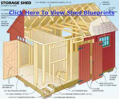 shed blueprints 10x12
